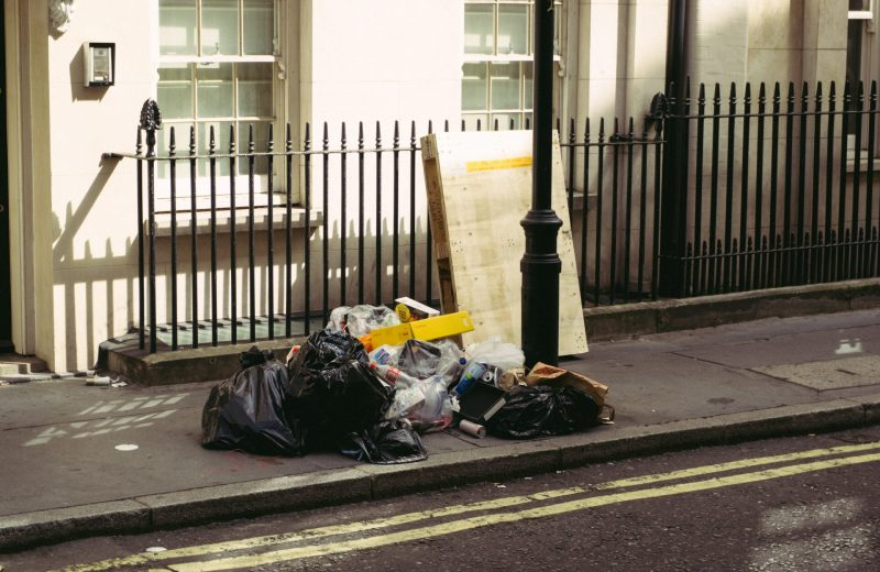 rubbish on street